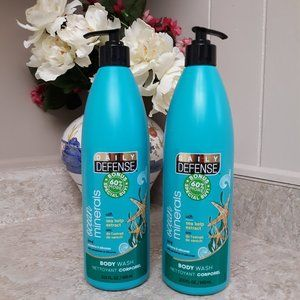 2 Ocean Mineral Sea Kelp Natural Extract Body Wash